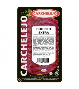 1284-SLICED RED CHORIZO SAUSAGE VELA 90g